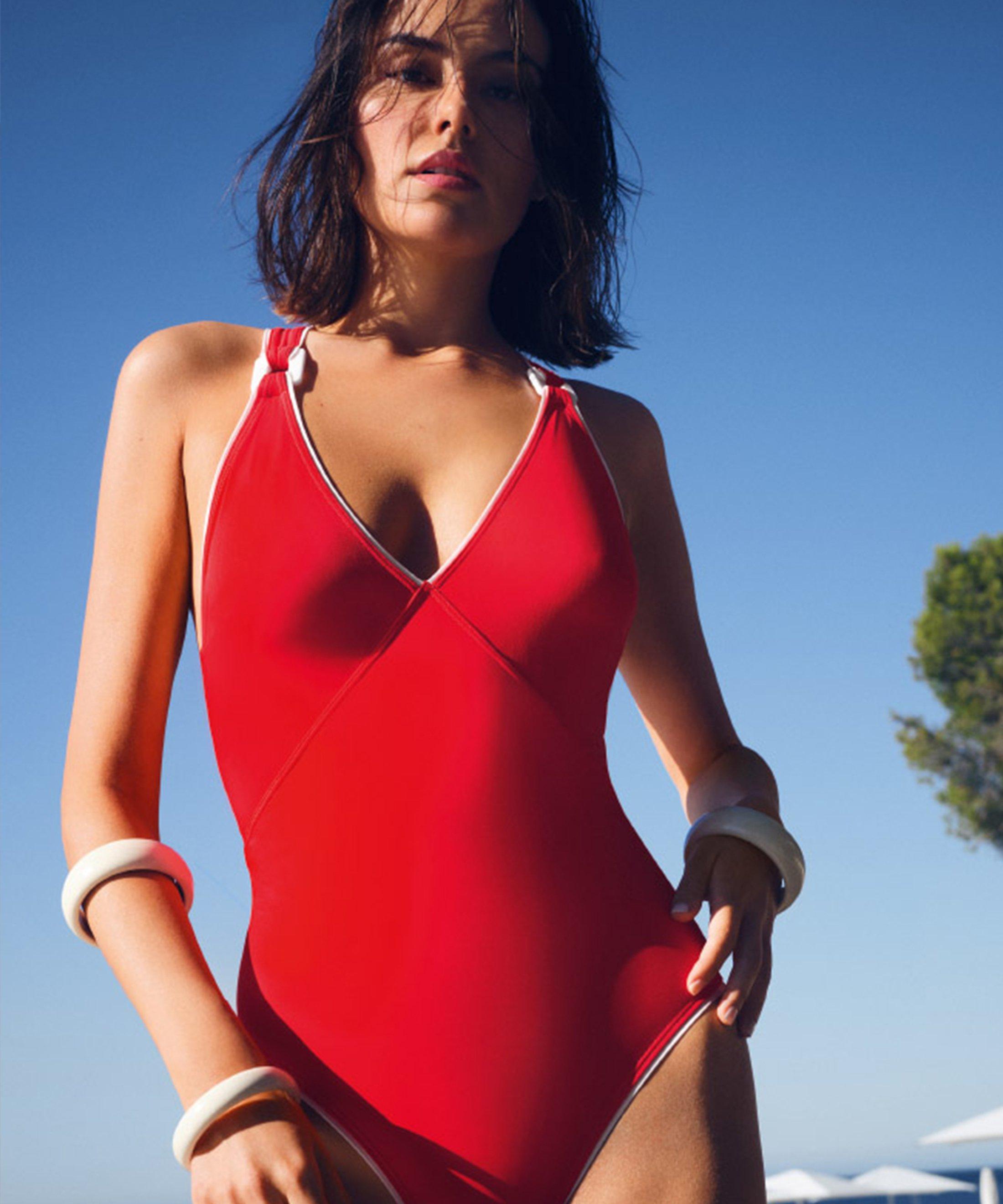 LA BAIE DES VAGUES Maillot de bain une pièce sans armature Rouge Sanguine | Aubade
