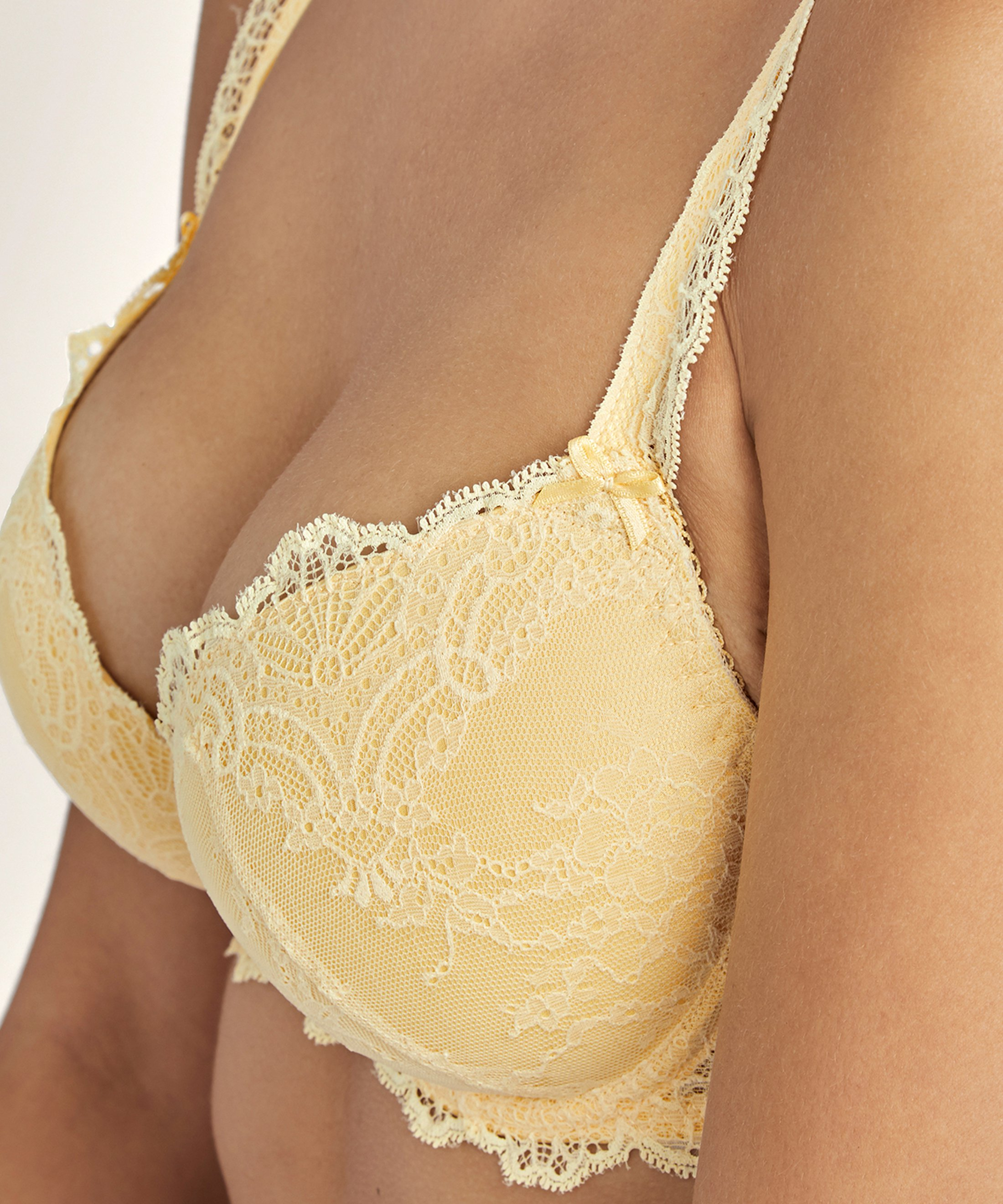 DANSE DES SENS Moulded push-up bra Mango Yellow | Aubade