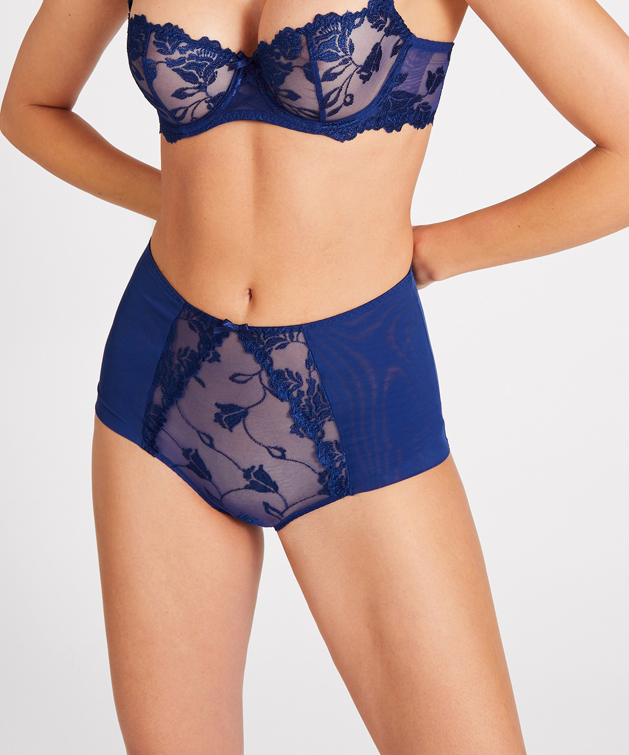 SOFTESSENCE Culotte taille haute Bleu Saphir | Aubade