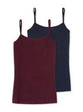 SCHIESSER Cotton Essentials Spaghetti-Top, 2er Pack