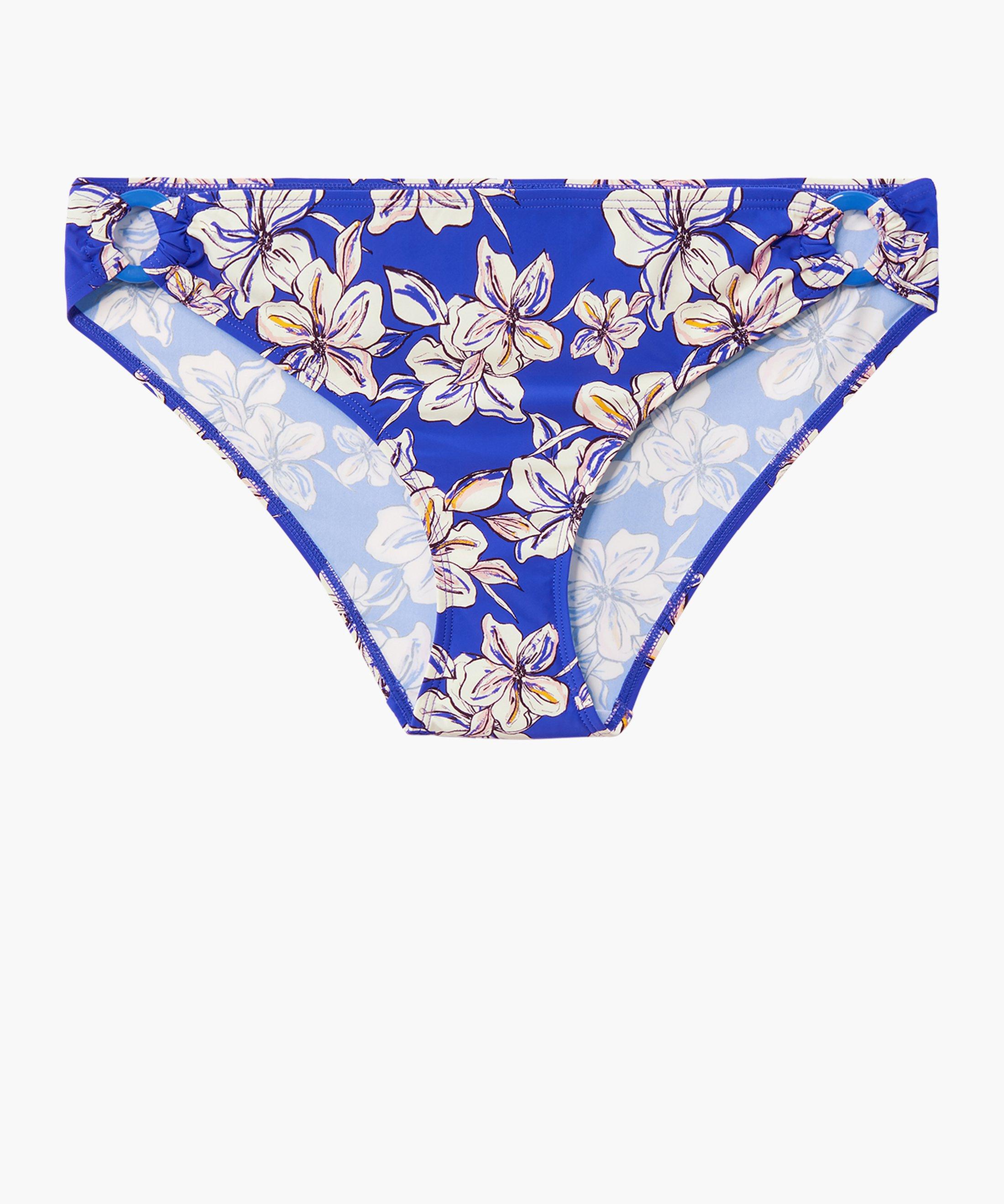 PARFUMS D'ÉTÉ Culotte de maillot de bain brésilienne Bleu Floral Glycine | Aubade