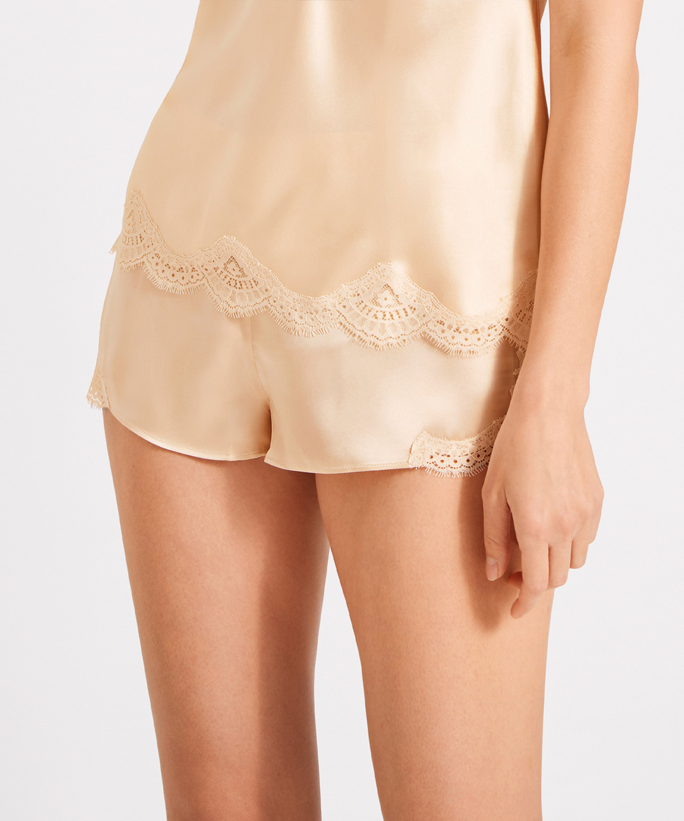 TOI MON AMOUR Silk Boxer Pearly white Blond | Aubade