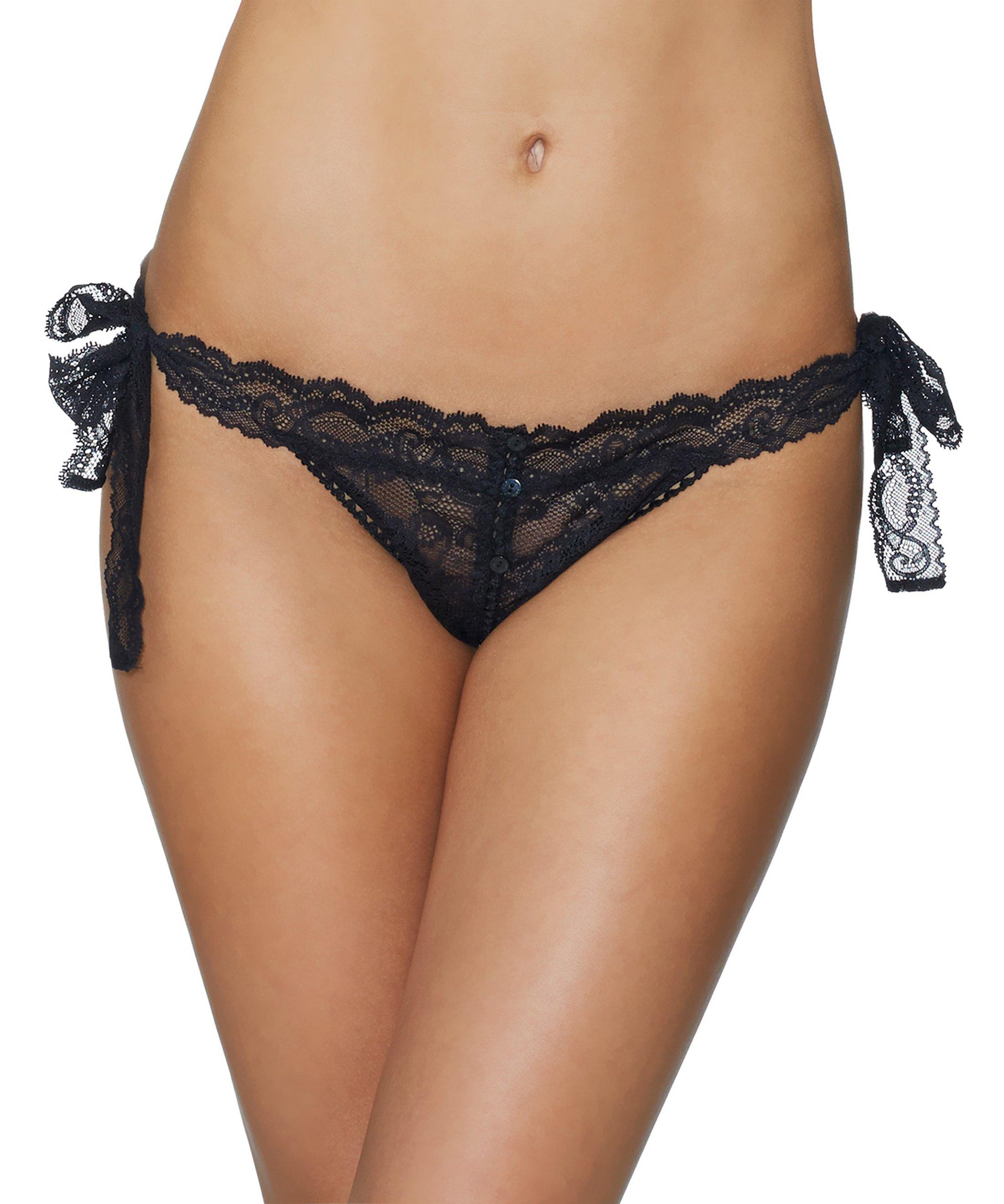 BOÎTE À DÉSIR Bikini Culotte Coquine Black | Aubade