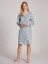 CALIDA Cotton Special Langarm-Nachthemd, Länge 100cm