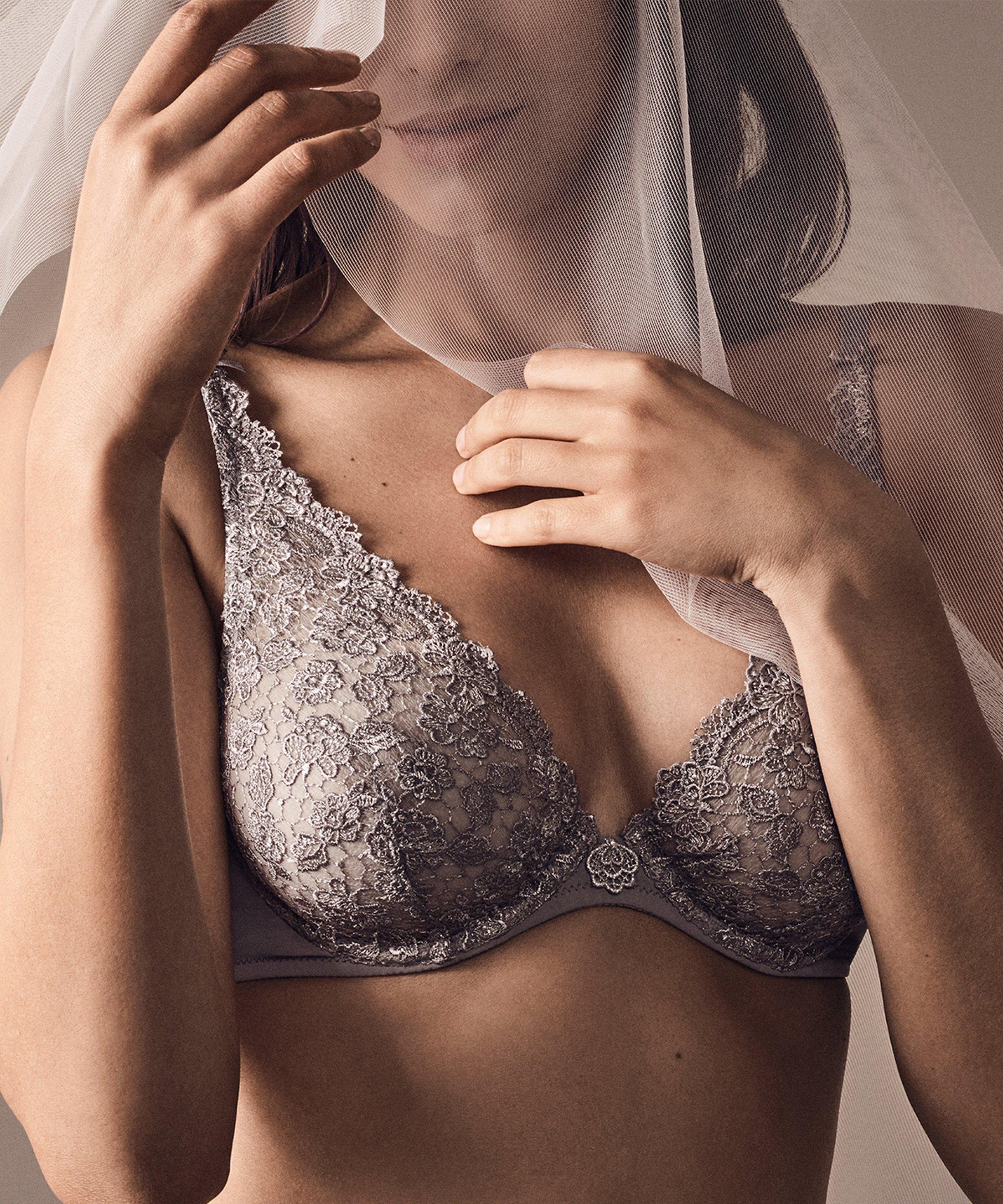 SECRET DE CHARME Soutien-gorge triangle avec armatures Rose Mondaine | Aubade