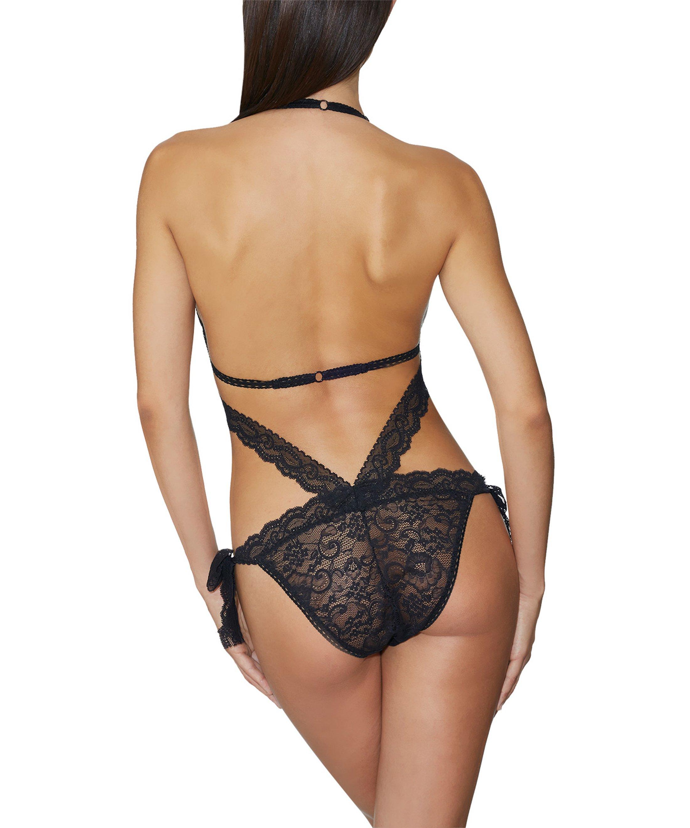 BOÎTE À DÉSIR Trikini Noir | Aubade