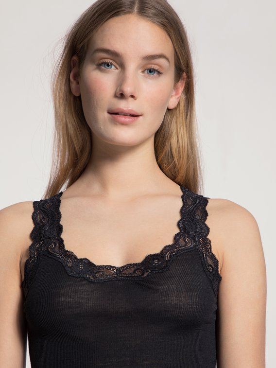 CALIDA Richesse Lace Top ohne Arm aus Wolle & Seide