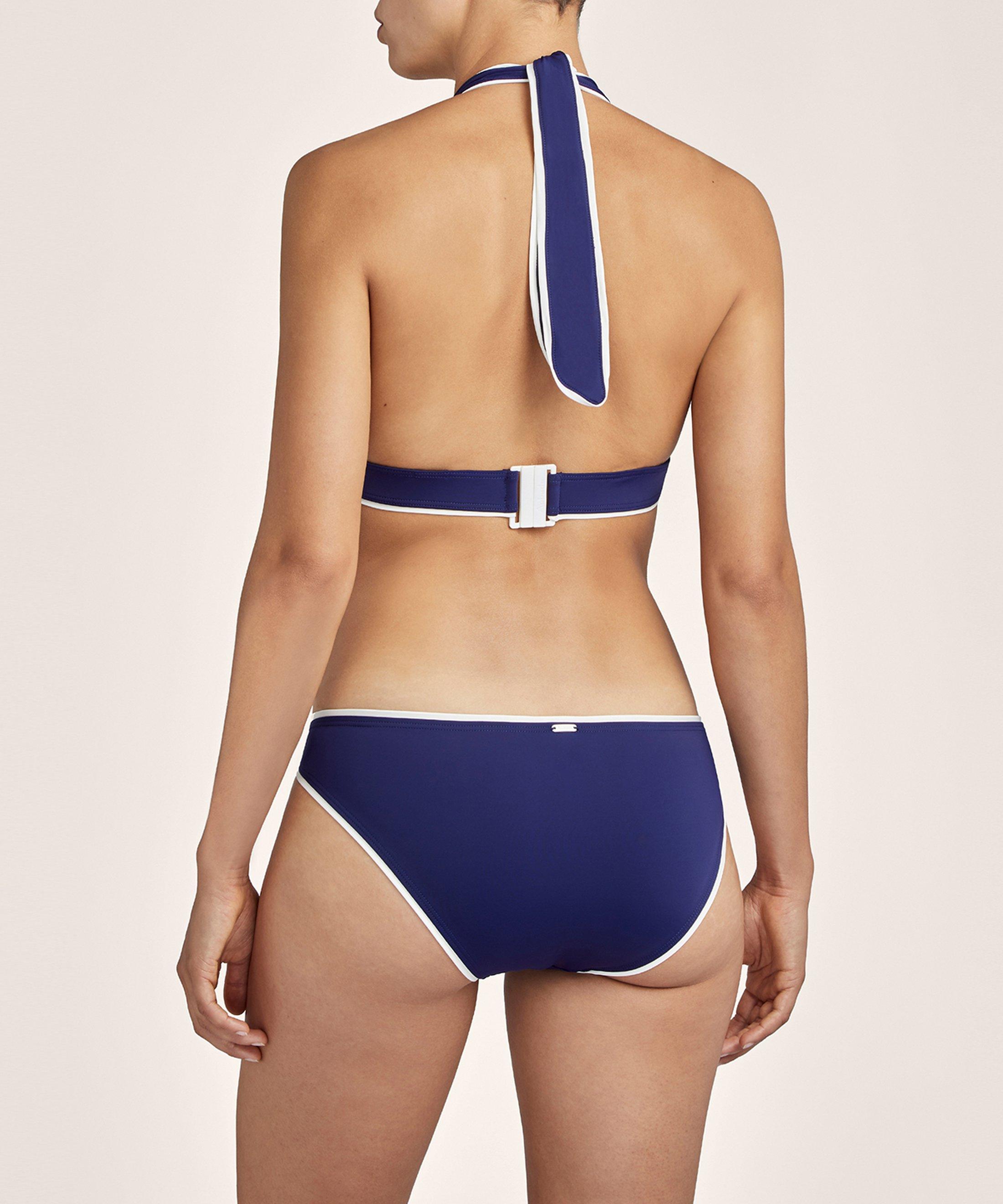 LA BAIE DES VAGUES Haut de maillot de bain triangle Encre Bleue | Aubade