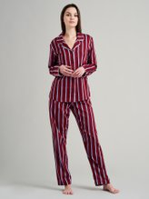SEIDENSTICKER Websatin Pyjama, lang