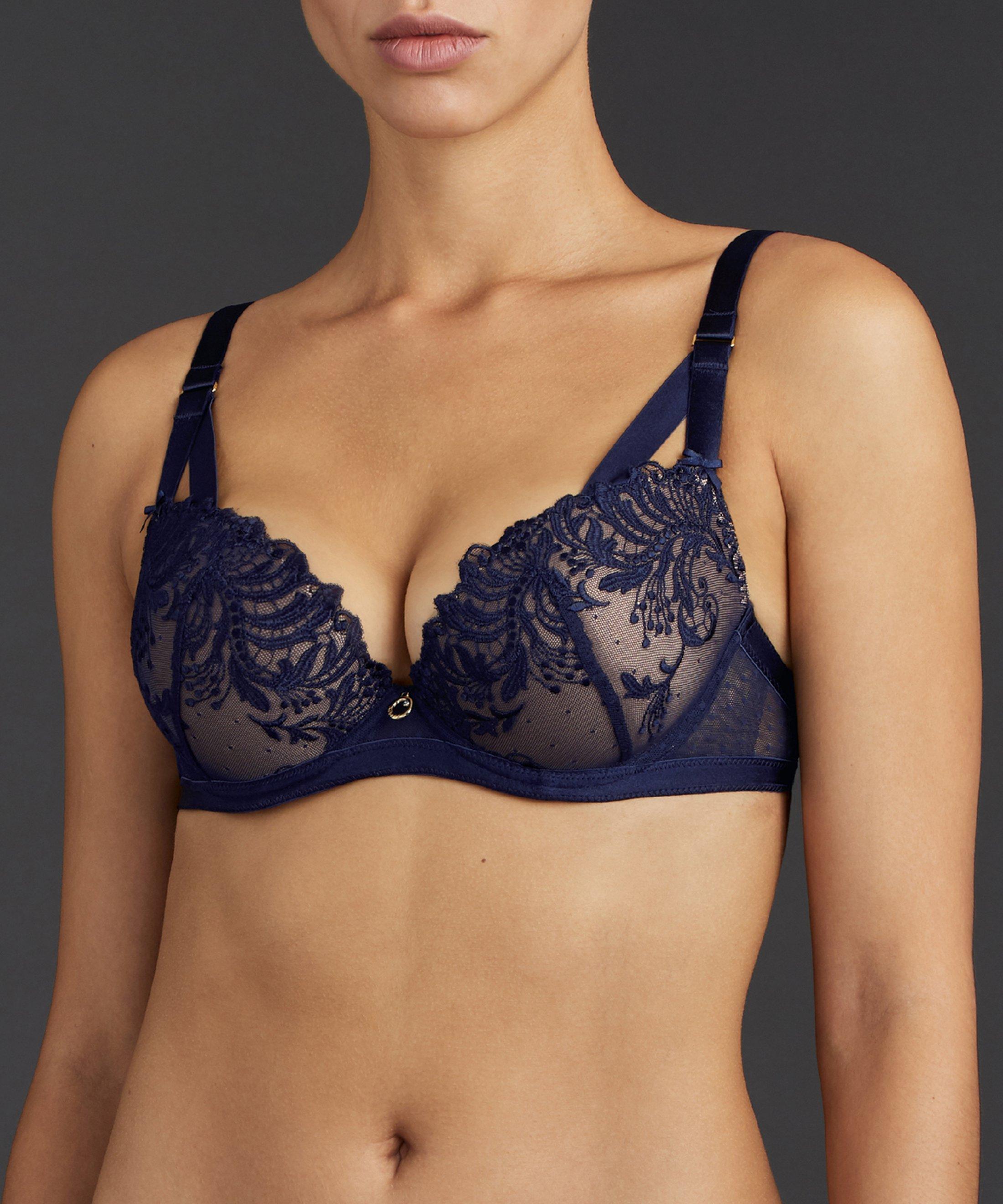 FEMME PASSION Moulded push-up bra Crépuscule Blue | Aubade
