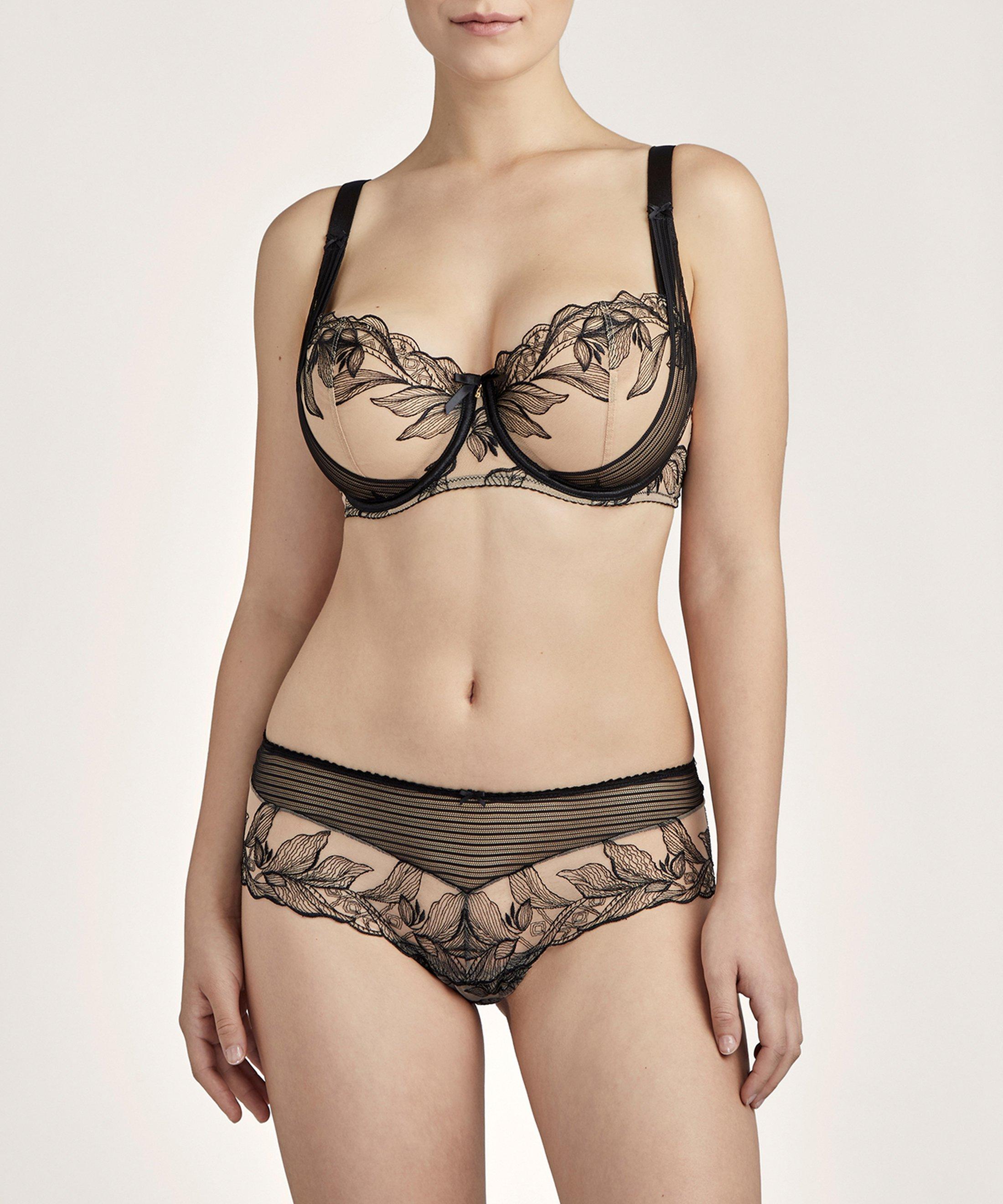 FLEUR DE TATTOO Comfort Half cup bra Black Encre Noire | Aubade