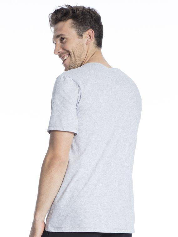 Schiesser Herren Mix /& Relax Langarmshirt V-Ausschnitt Schlafanzugoberteil