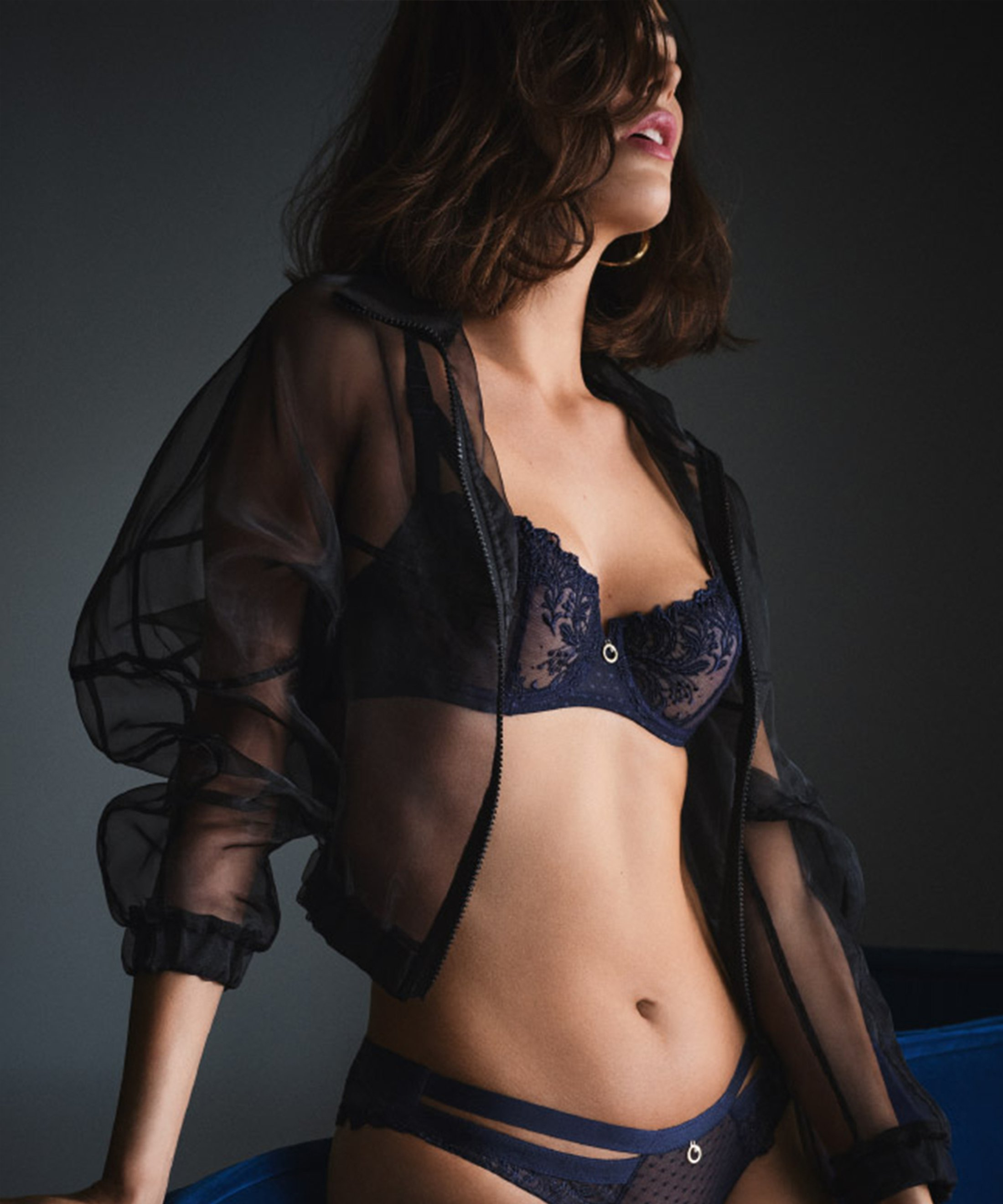 FEMME PASSION Soutien-gorge corbeille Bleu Crépuscule | Aubade