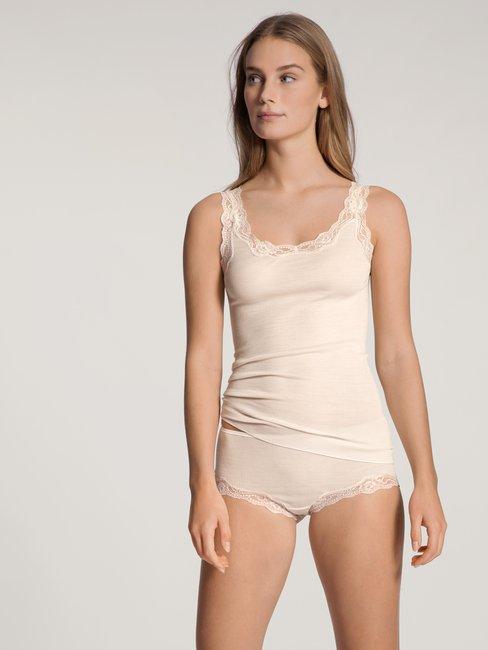 CALIDA Richesse Lace Top ohne Arm aus Wolle & Seide