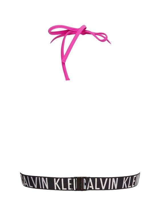 CALVIN KLEIN Intense Power-S Triangel-Bikini-Top mit Logobund