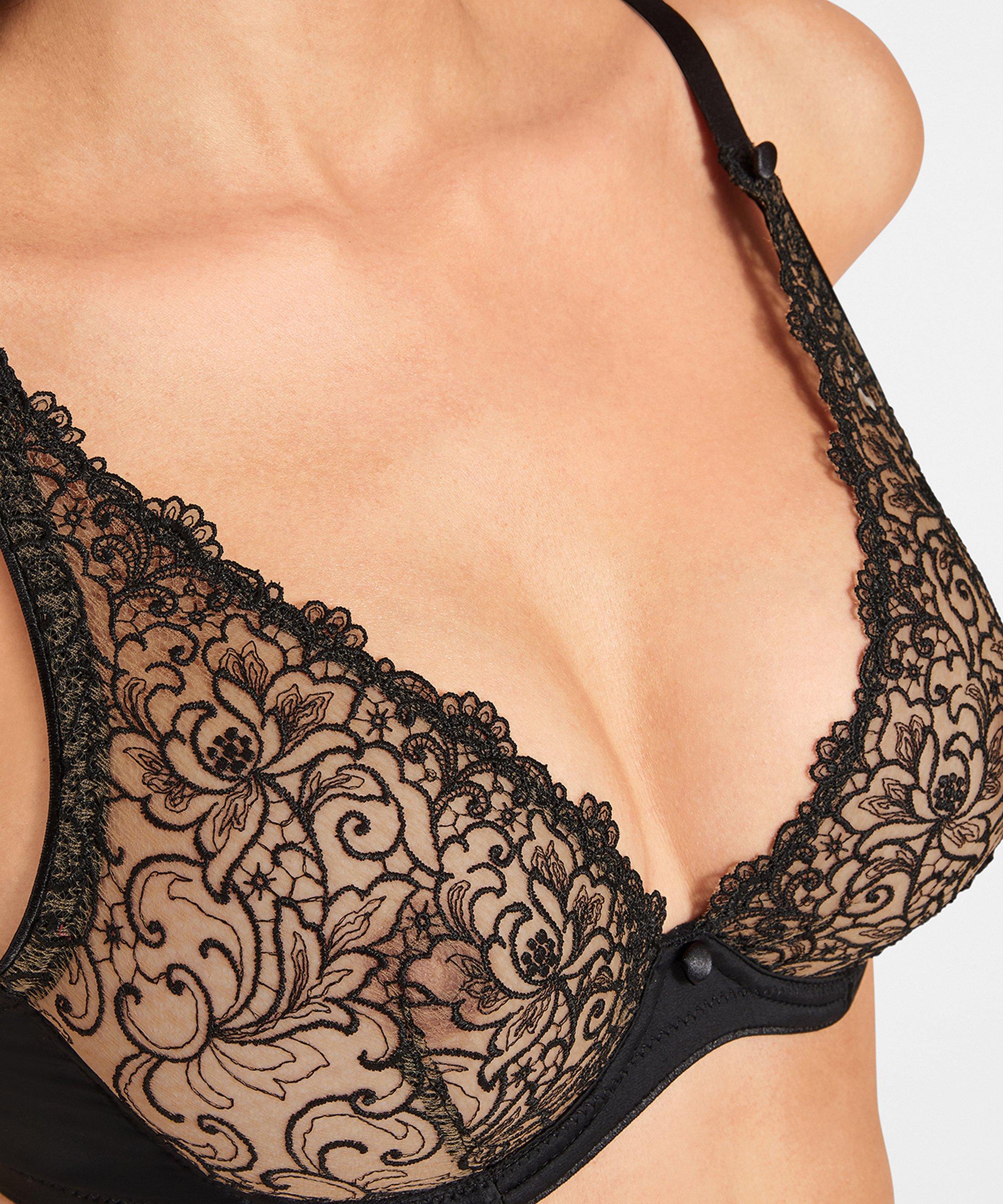 KARL LAGERFELD X AUBADE Triangle bra - up to F cup Black Tuxedo | Aubade