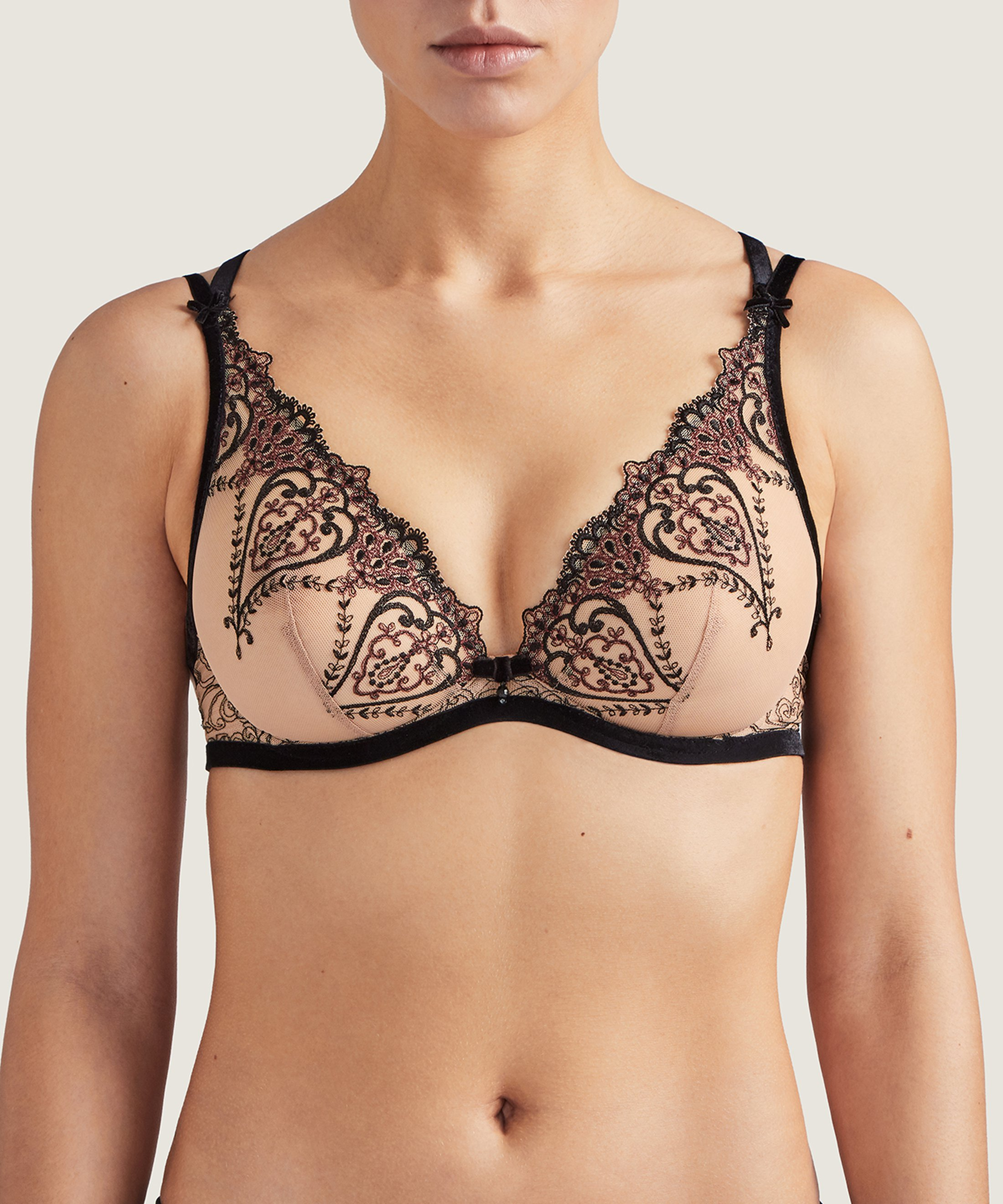 COEURS ENLACÉS Triangel Push-Up BH Serenade Schwarz | Aubade