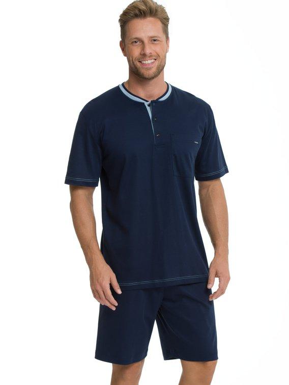 Calida Herren Schlafanzug kurz Pyjama Baumwolle