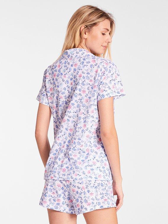 LAUREN BY RALPH LAUREN Classic Knits Kurz-Pyjama, geknöpft