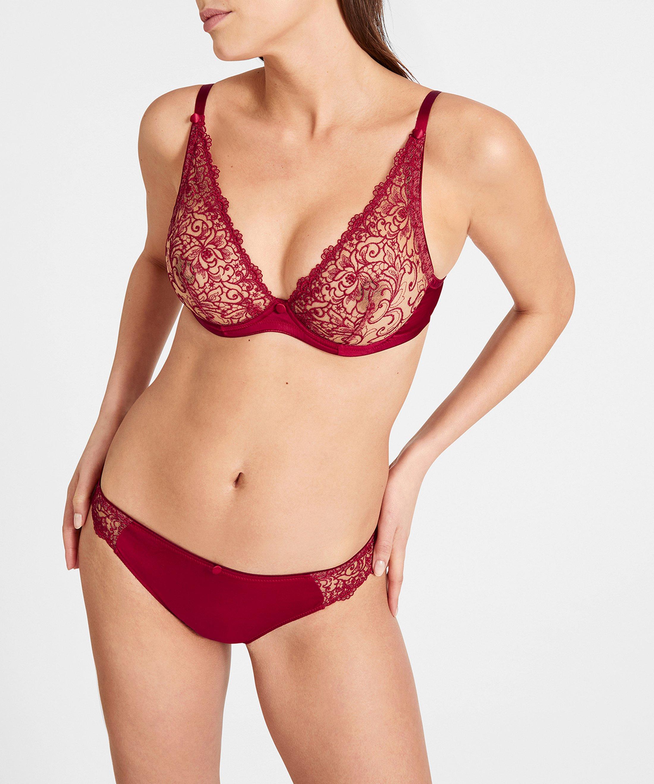 KARL LAGERFELD X AUBADE Culotte Italienne Rouge Rubis  | Aubade