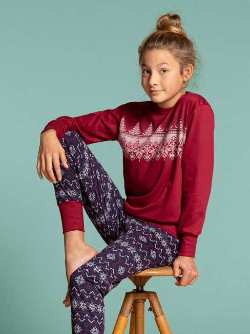 CALIDA Family & Friends Mädchen Bündchen-Pyjama