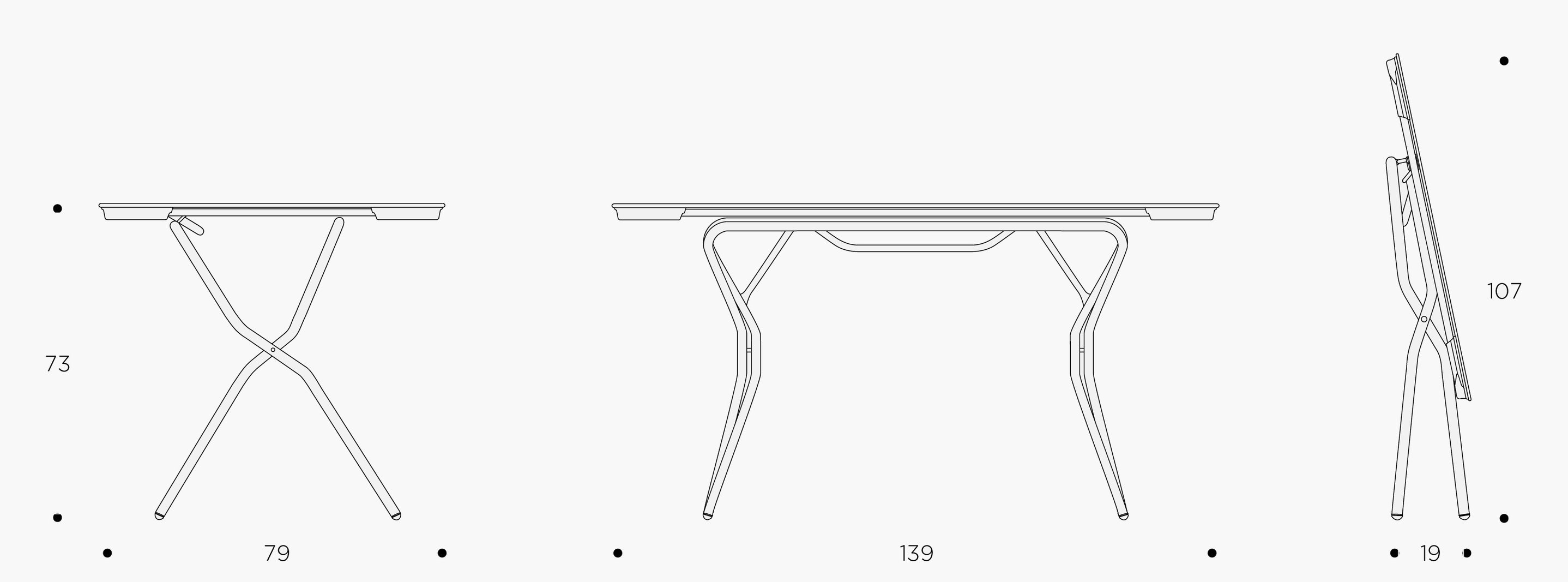 TABLE RECTANGLE XL