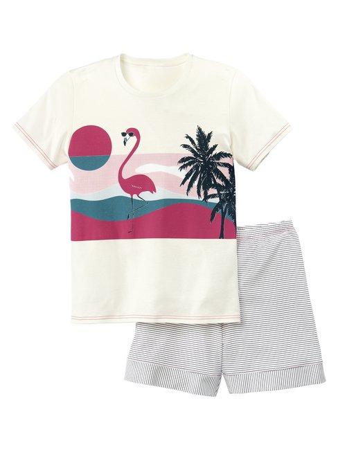 CALIDA Flamingo Mädchen Kurz-Pyjama