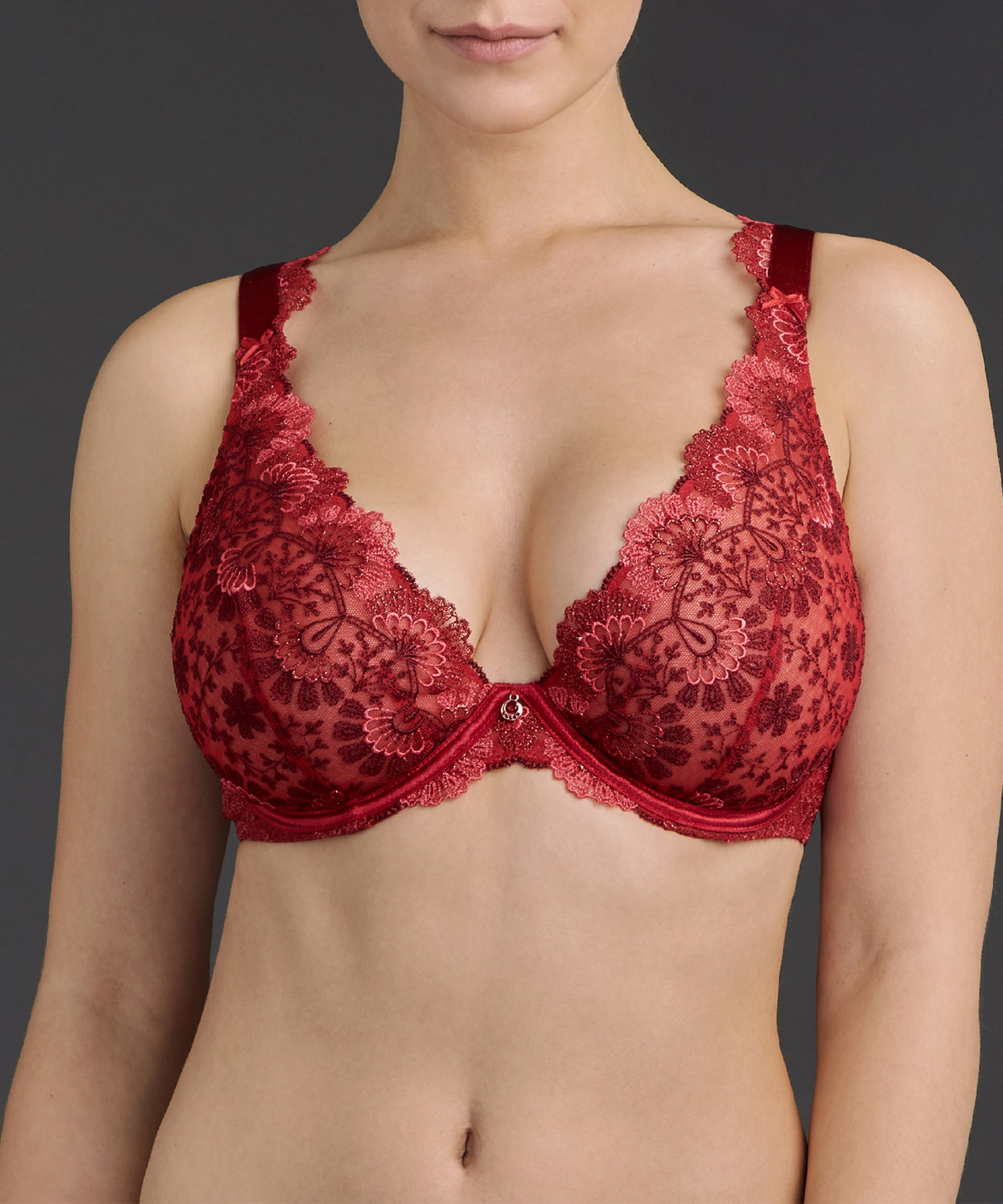 ART OF INK Soutien-gorge triangle avec armatures confort French Red | Aubade