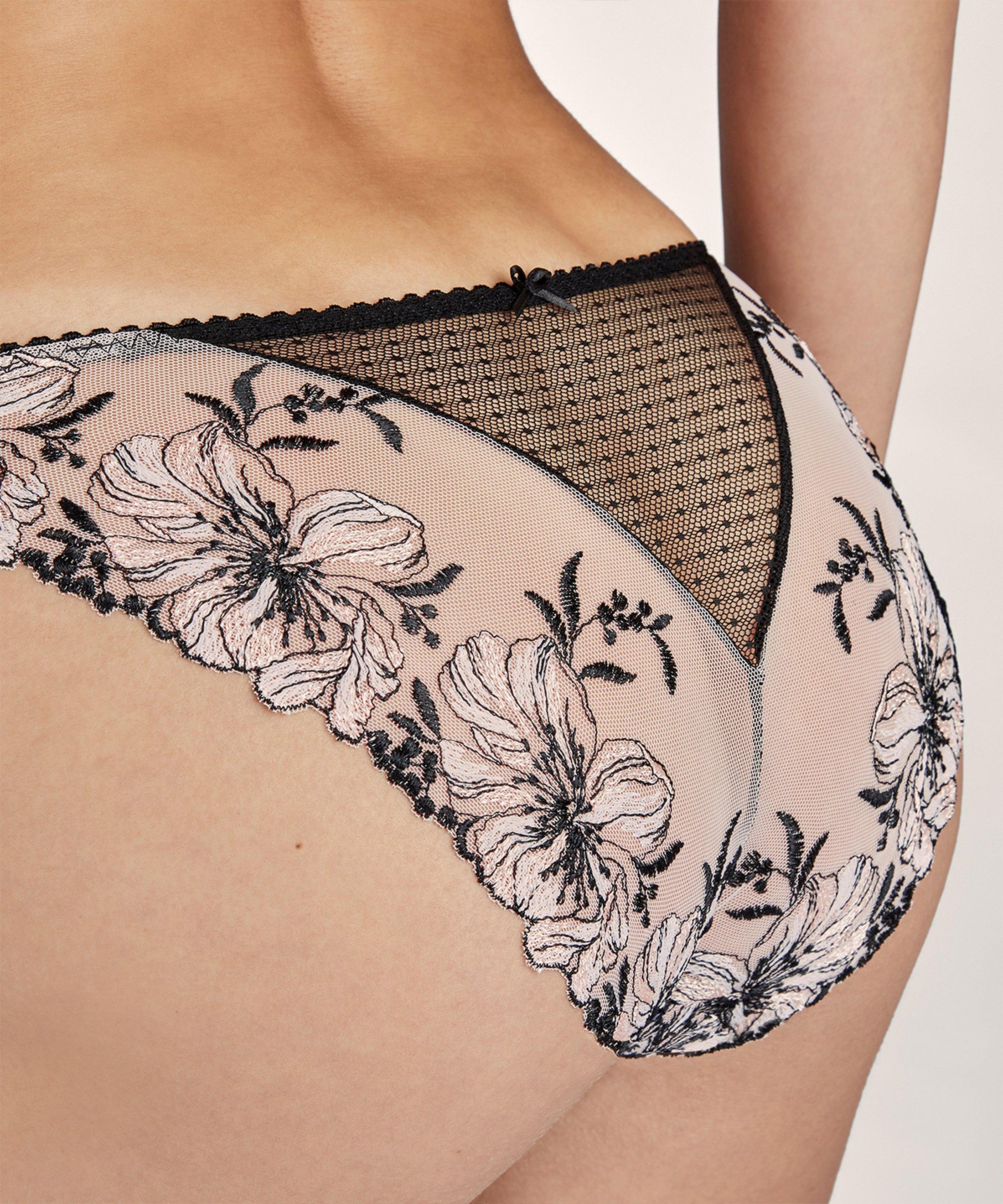 POÉTIQUE ESQUISSE Culotte Italienne Noir Valentine | Aubade