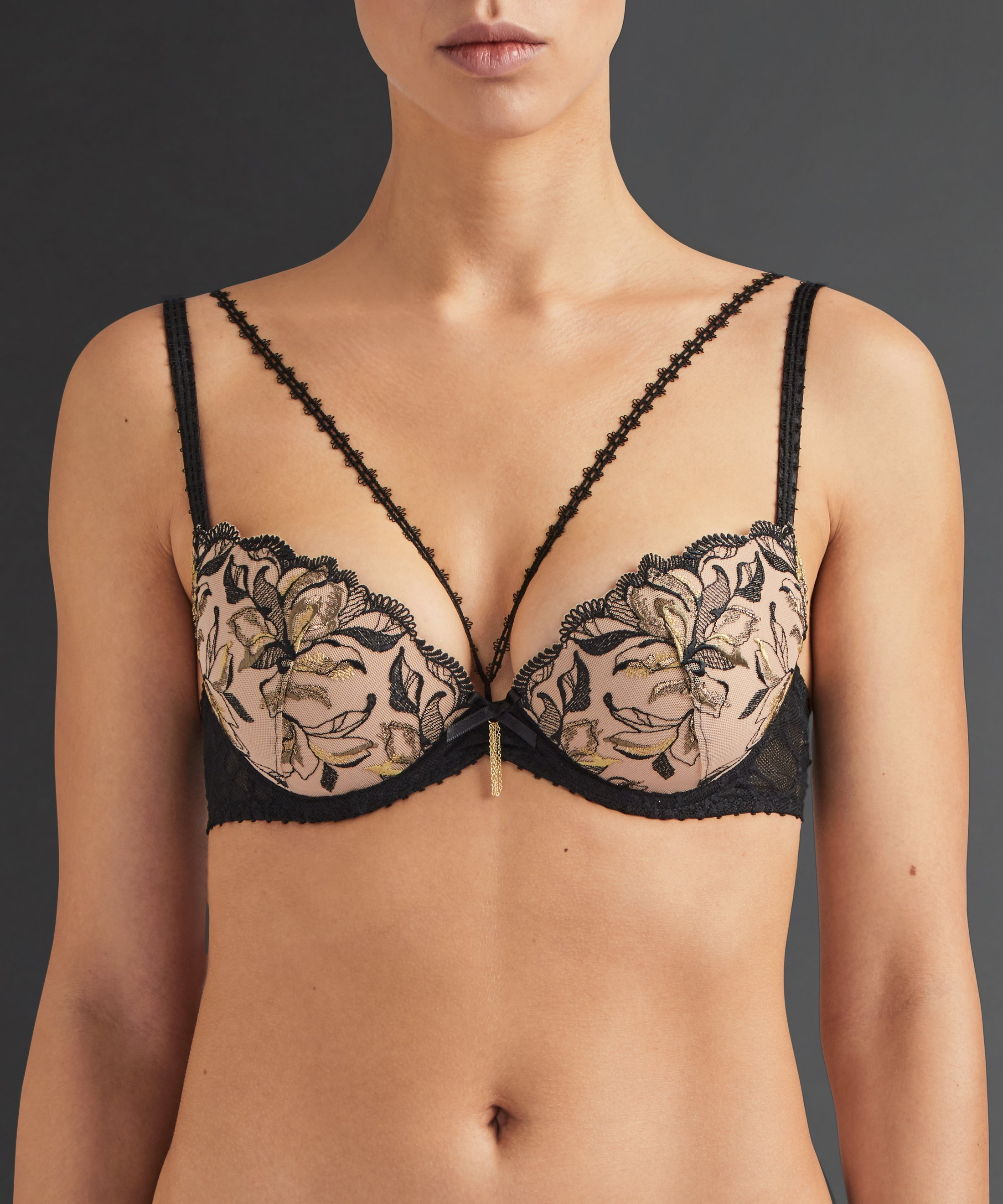 ENCRE DE CHINE Moulded push-up bra Bronze Ombre | Aubade