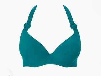 The moulded plunge bikini top