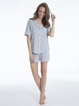 DKNY New Signature Kurz-Pyjama, geknöpft
