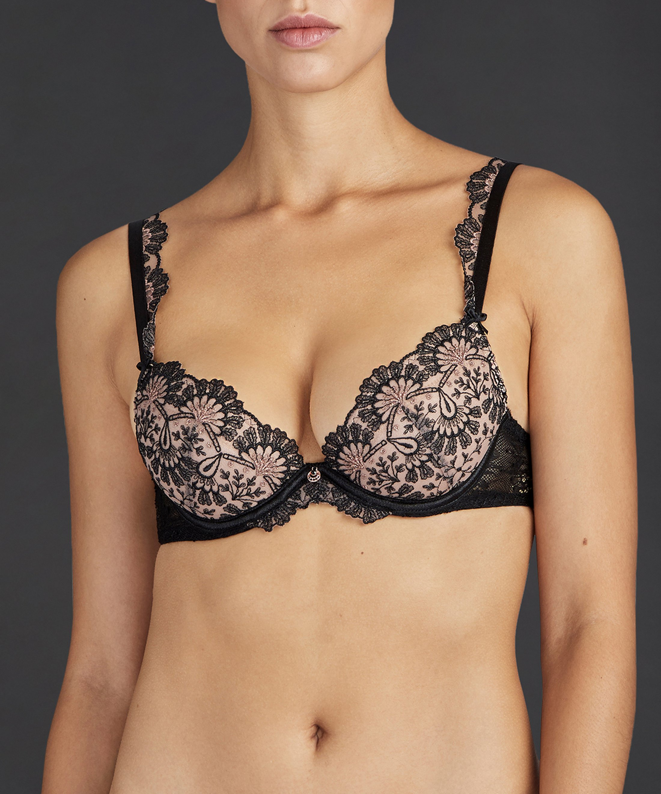 ART OF INK Soutien-gorge push-up Noir Icone | Aubade