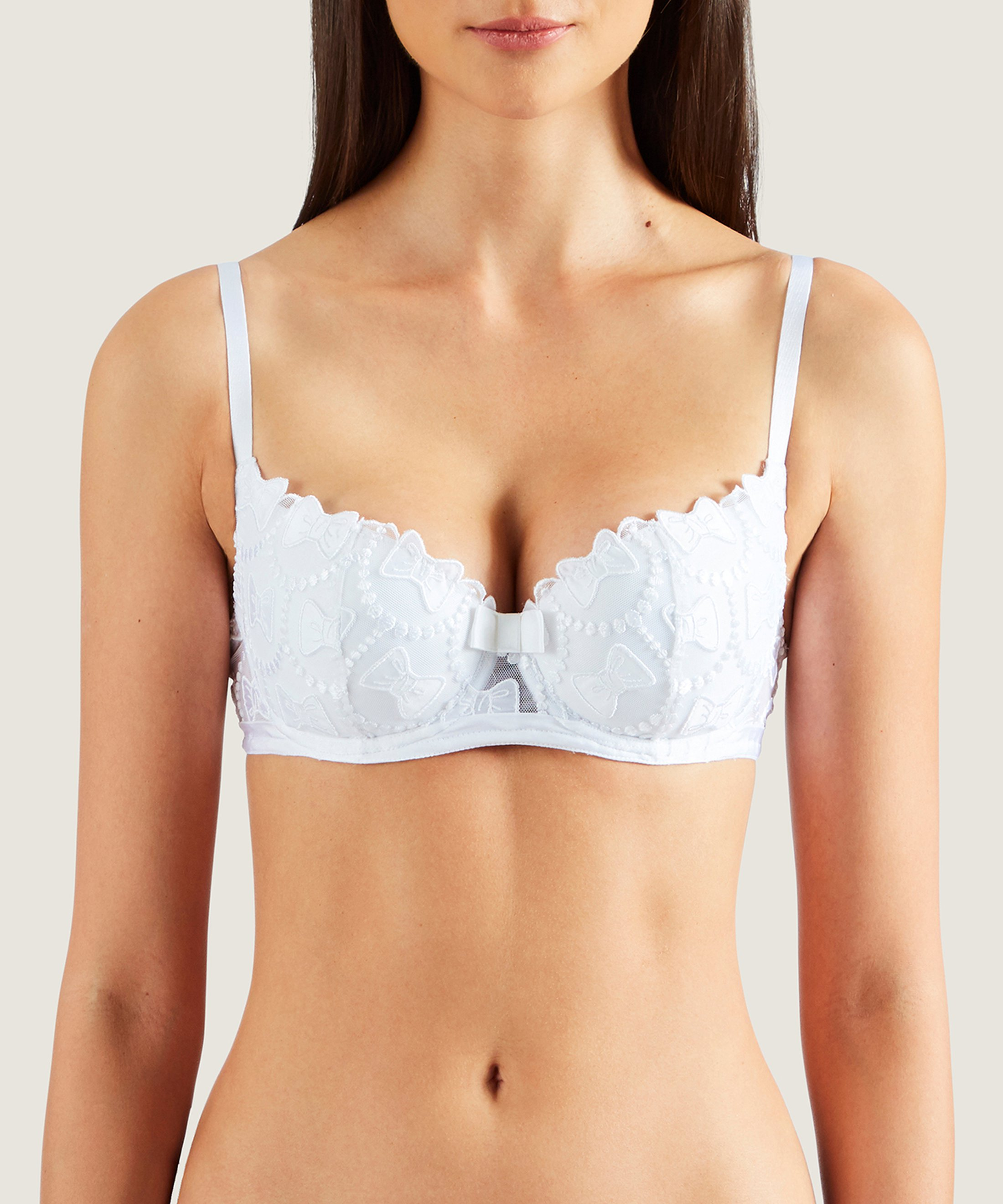 THE BOW COLLECTION Soutien-gorge corbeille coque Blanc | Aubade