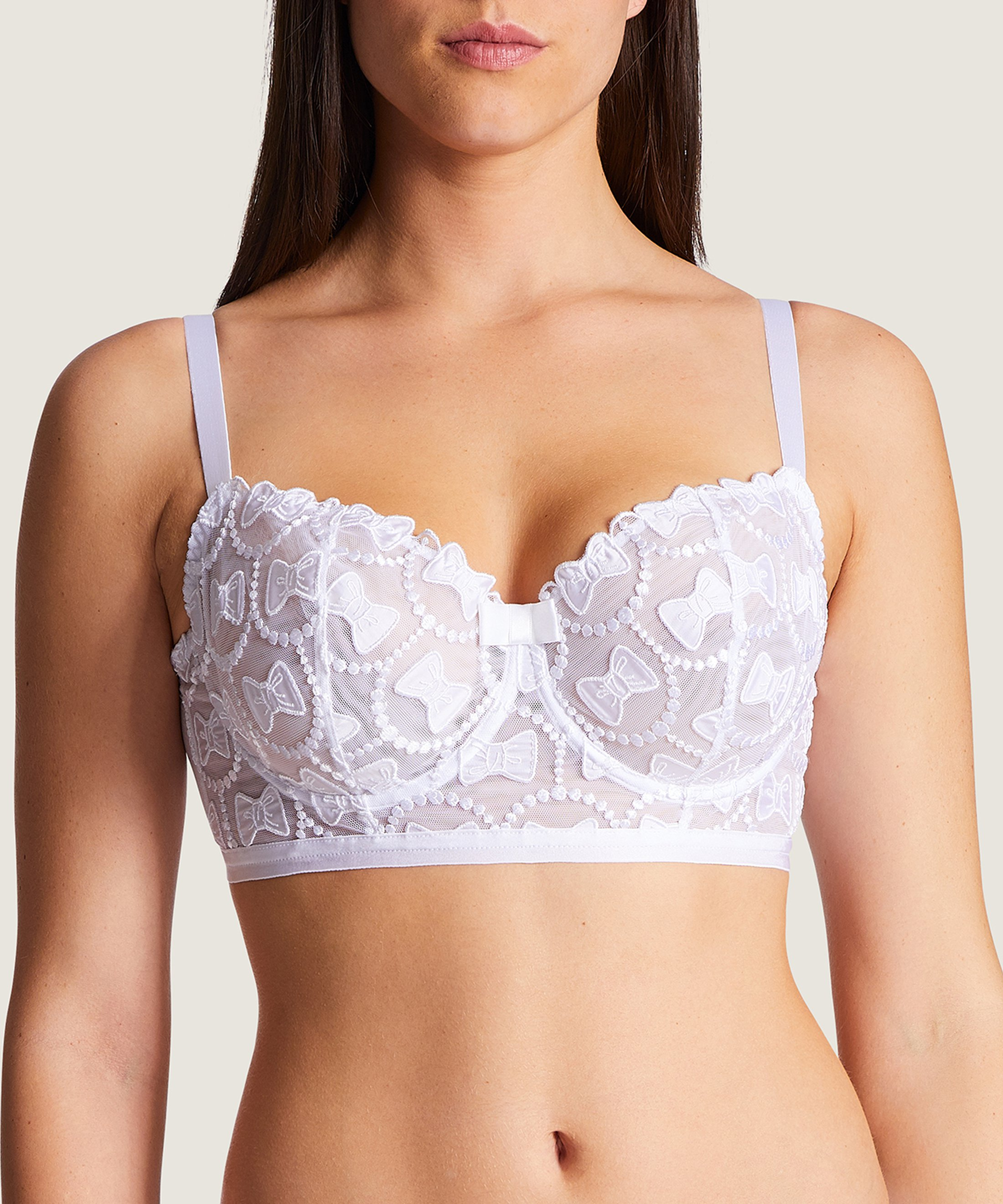 THE BOW COLLECTION Soutien-gorge corbeille confort Blanc | Aubade