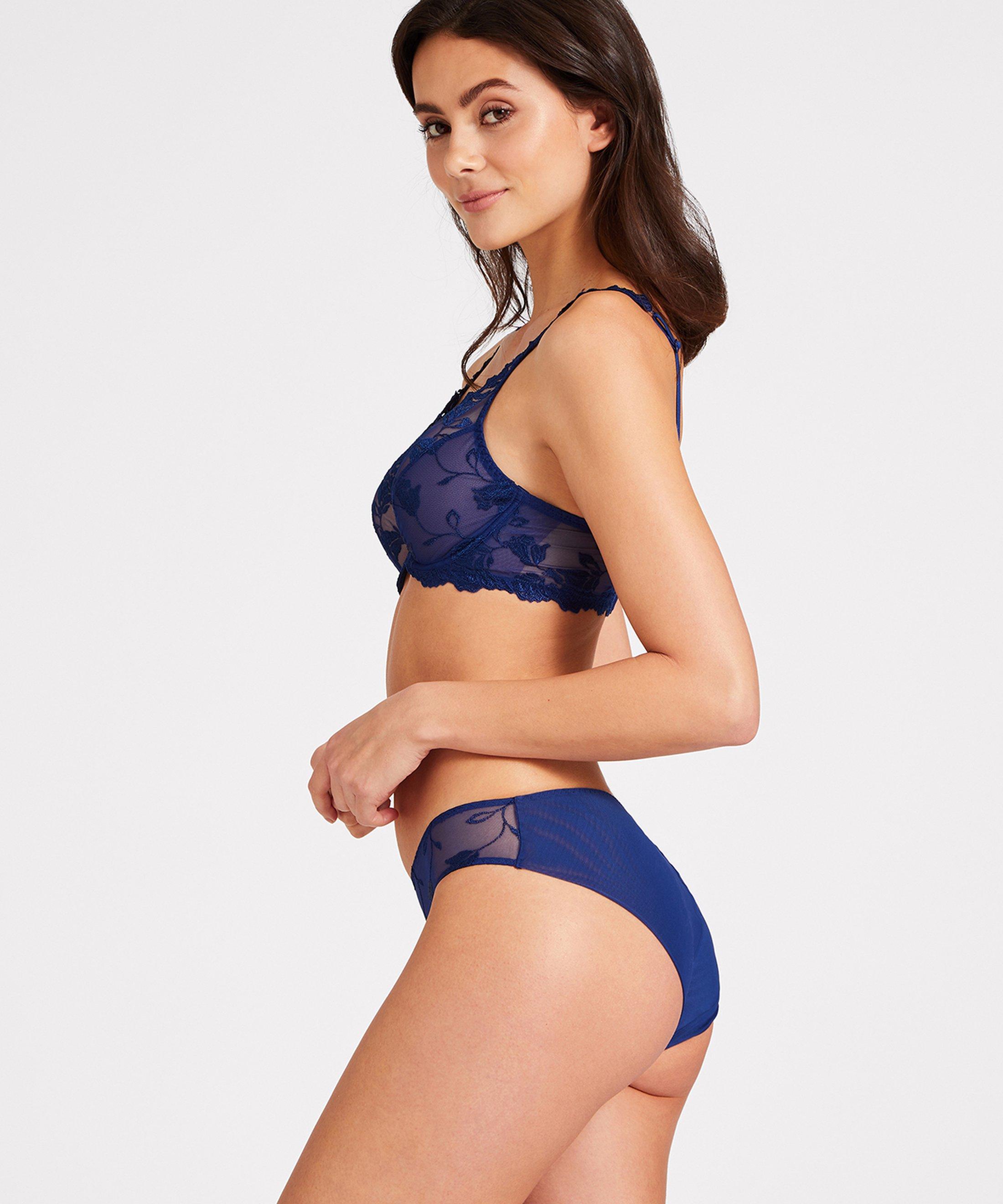 SOFTESSENCE Soutien-gorge triangle avec armatures Bleu Saphir   Aubade