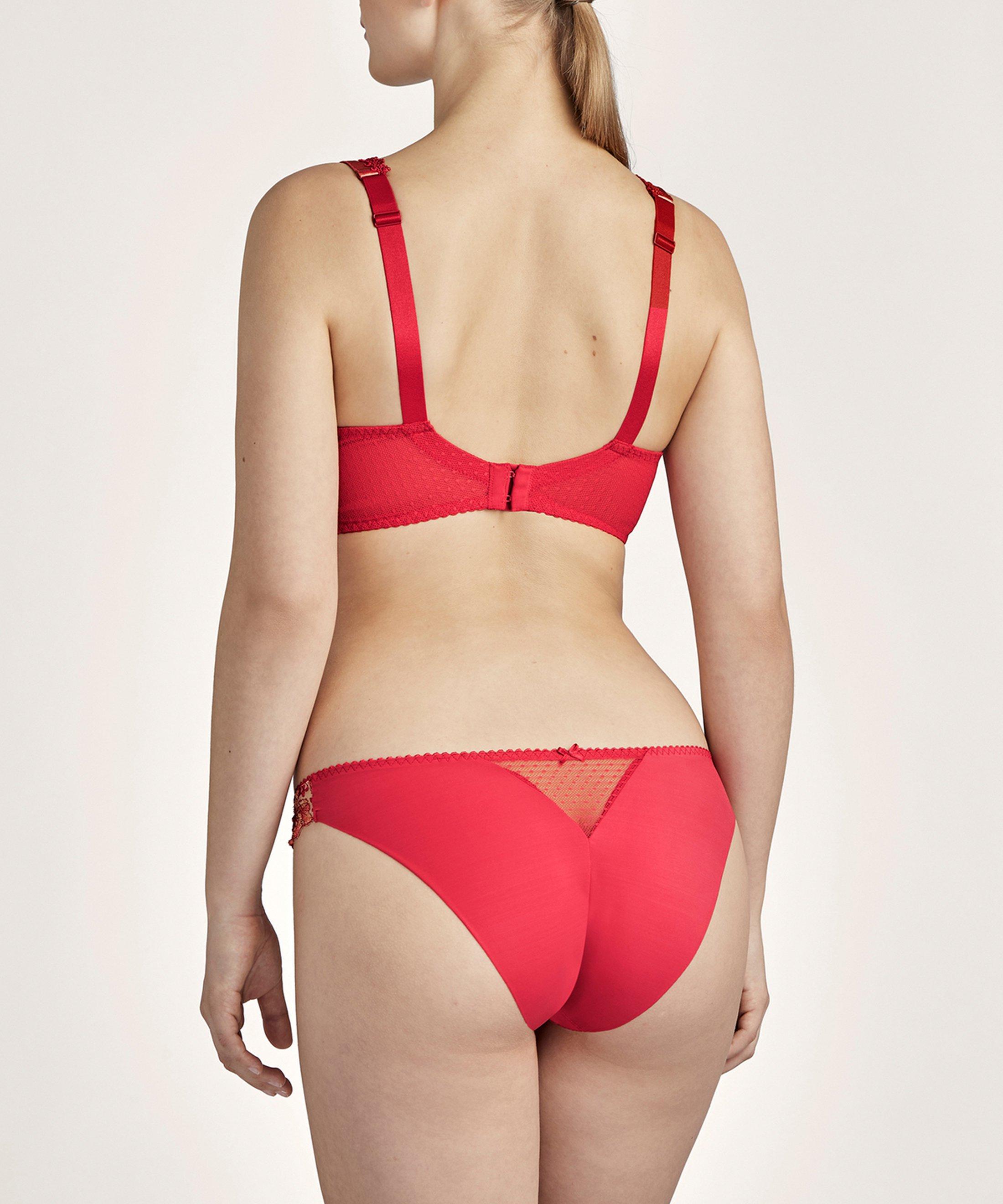 POÉTIQUE ESQUISSE Culotte Brésilienne Rouge Pigment | Aubade