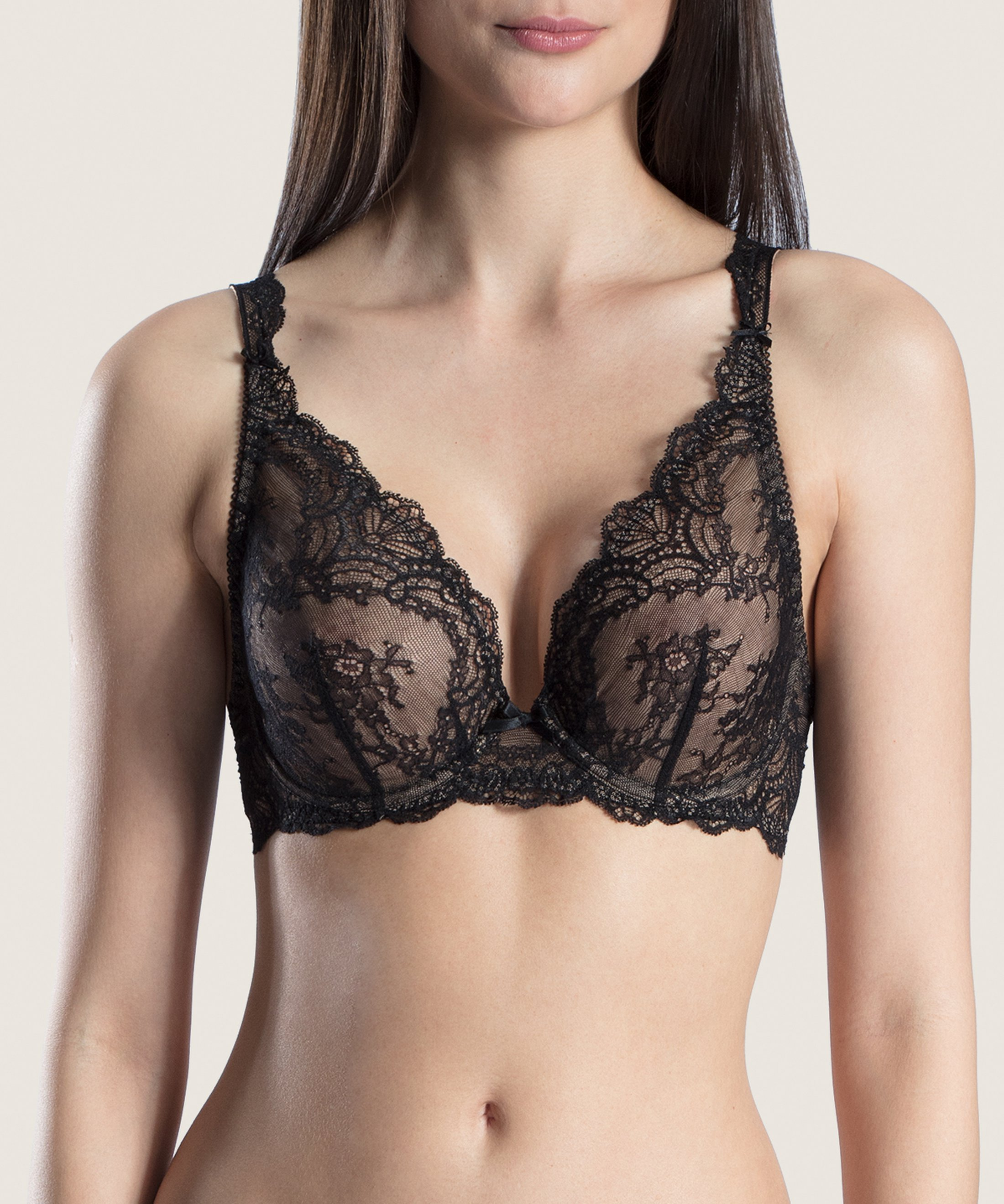 DANSE DES SENS Triangel Push-Up BH Schwarz | Aubade