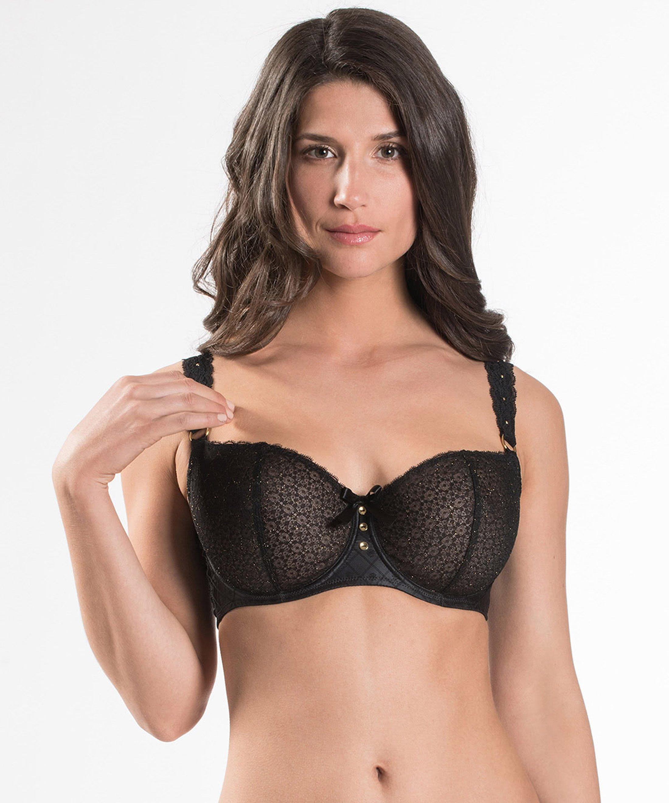 FEMME AUBADE Comfort Half cup bra Black | Aubade