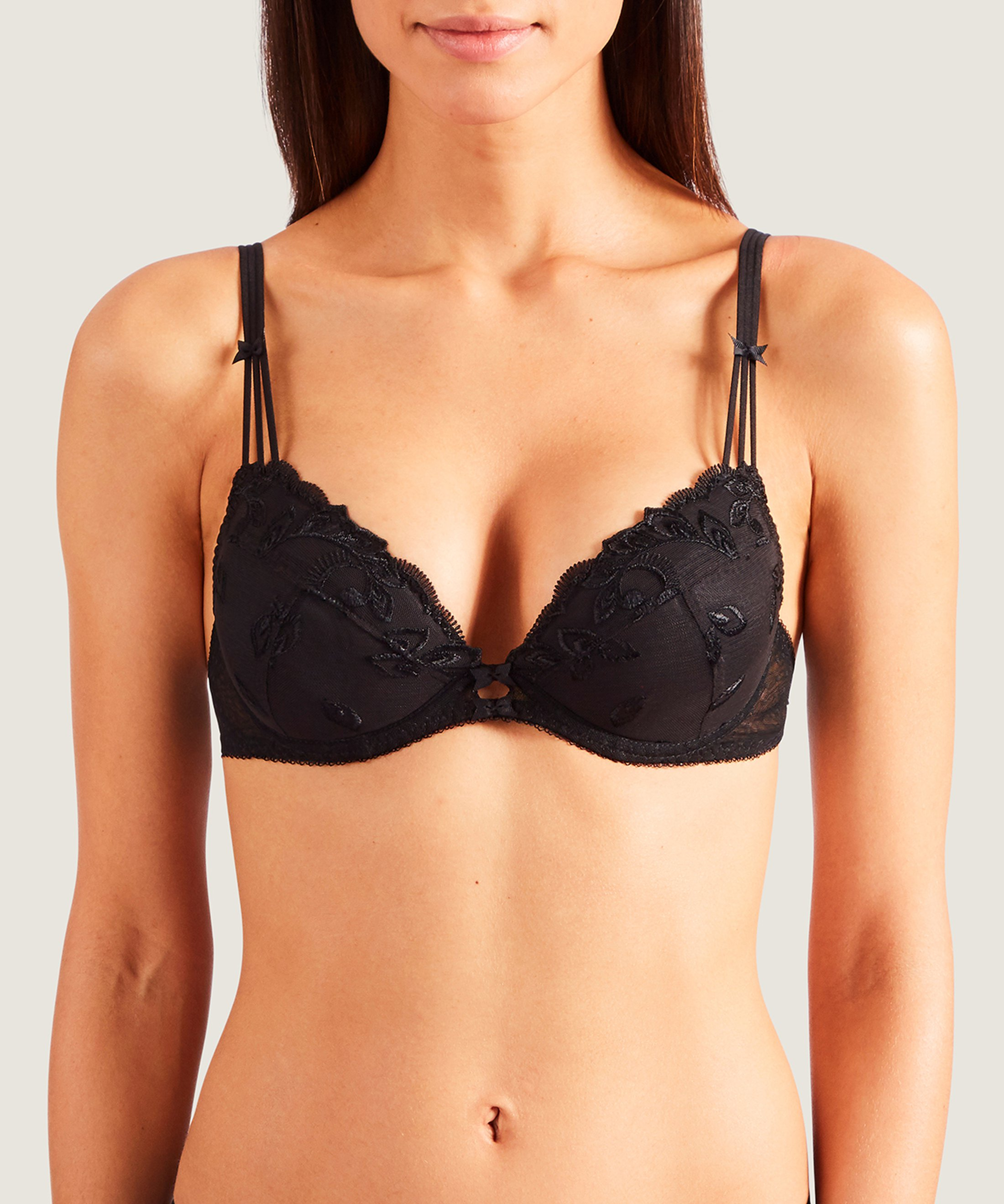 AU BAL DE FLORE Push-up bra Black | Aubade