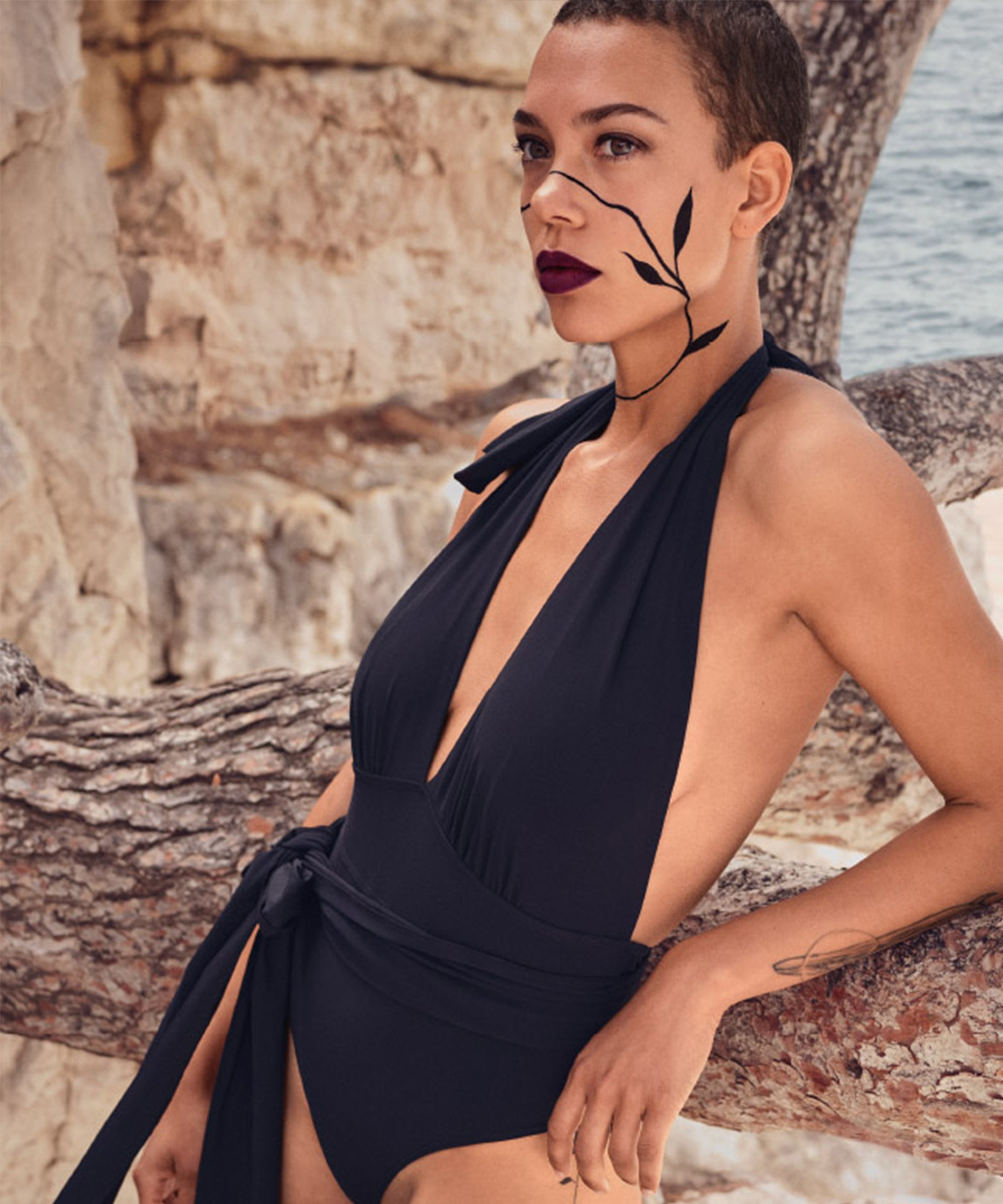 LA PLAGE ENSOLEILLÉE One-piece Swimsuit Black | Aubade