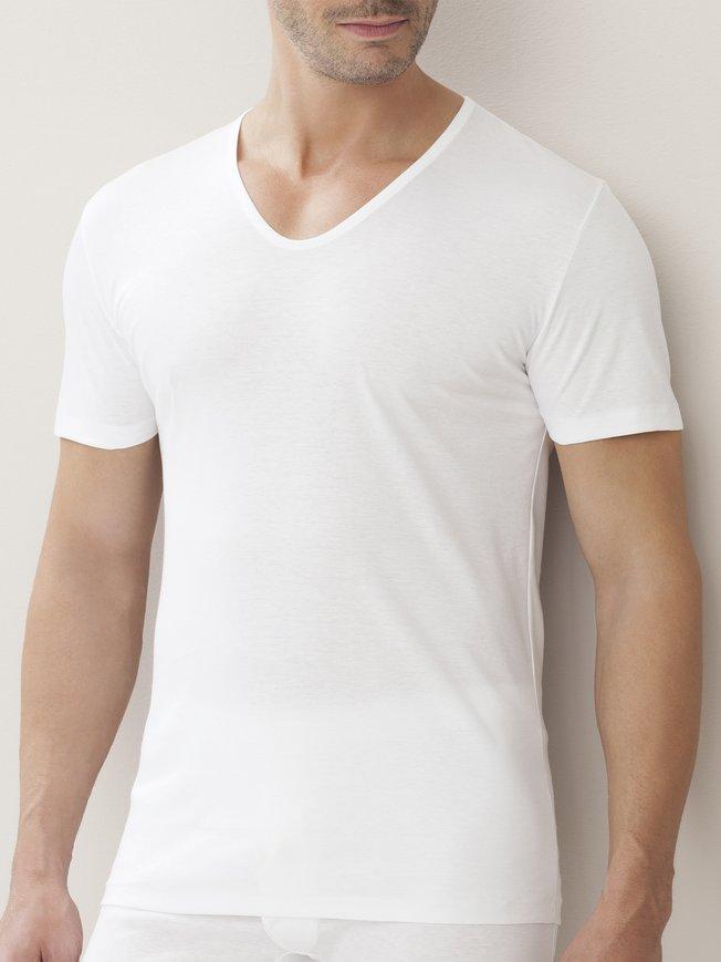ZIMMERLI Sea Island Kurzarm-Shirt, V-Neck
