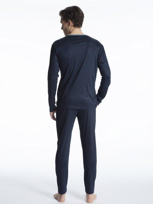 43080 Calida Herren Pyjama Schlafanzug lang ohne Bündchen Baumwolle Art